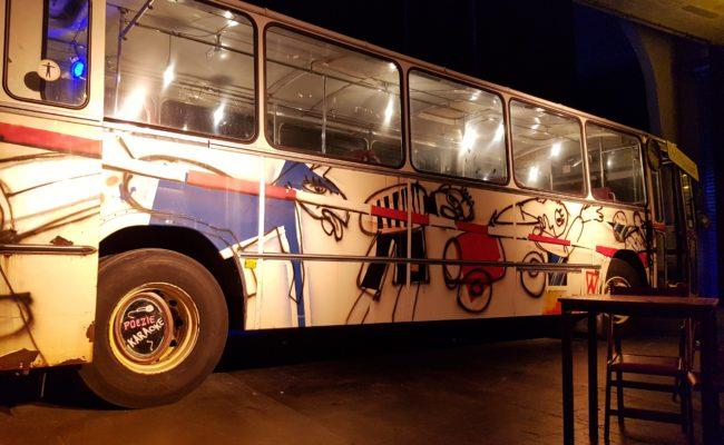 Karaoke Herman Brood bus zijkant totaal
